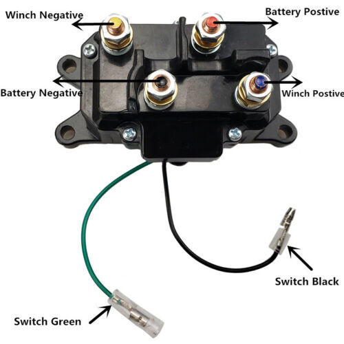 Winch Solenoid Relay Rocker Thumb Switch Control Contactor Atv Utv 2000-5000lbs