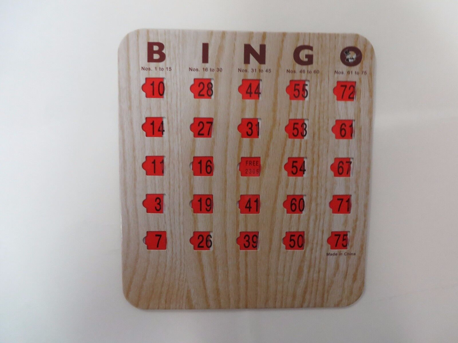 100 New New New Bingo Shutter Slide Cards -  Wood Grain - Deluxe 5 Ply - 745ff8