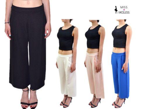 Women Ladies Palazzo Elephant/& flower Print/& plain Wide Leg Pants Baggy Trousers
