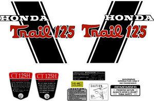 "graphics CT70 KO CT-70H  69,70,71 frame decals /""TRAIL 125/"" Cutsom"