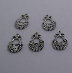 4pcs-Antique-silver-plated-nice-spit-happy-MS-bag-charm-pendant-T0864