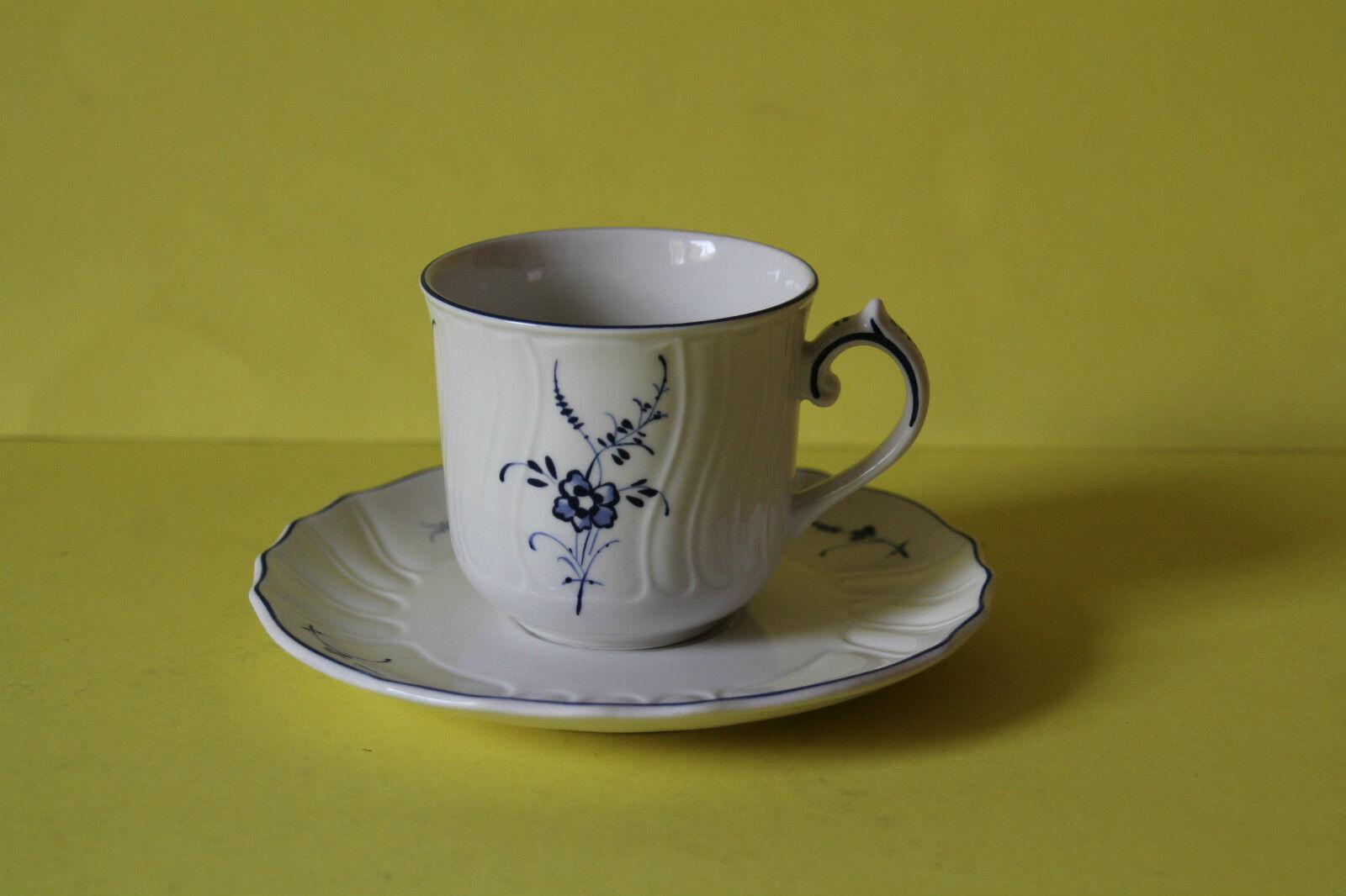 6 VILLEROY ET BOCH ALT VIEUX appliquent Luxembourg Tasse à café avec soucoupe 6 pièces