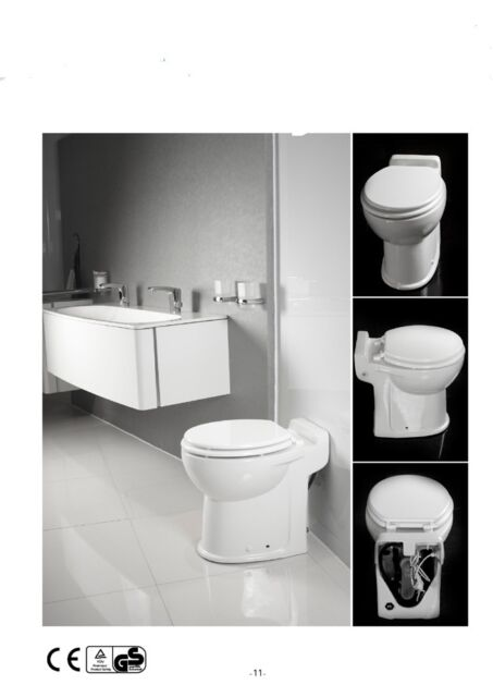 electric automatic cisternless one flush  toilet with built in macerator pump
