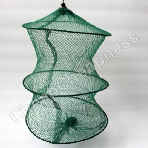 2 Layer Crab Fish Shrimp Minnow Fishing Bait Trap Cast Dip Net Cage UODUS