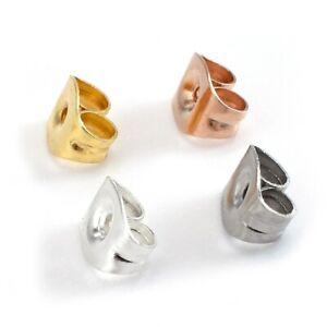 Butterfly-Verschluss-Stopper-Ohrmutter-Gegenstecker-aus-Edelstahl-silber-gold