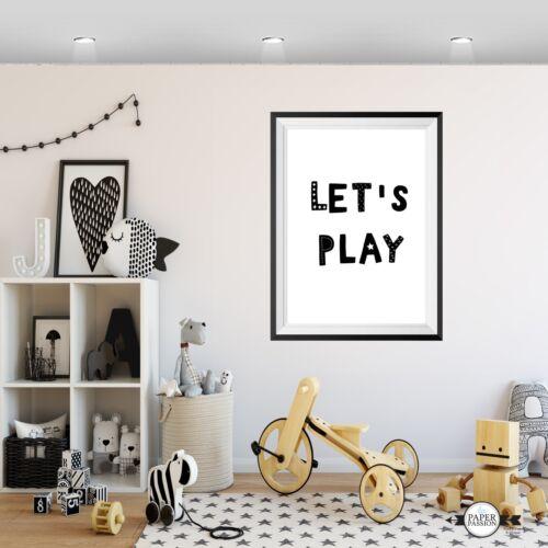 Lets Play Print,VARIOUS SIZES,Nursery Print,kids boys Wall prints