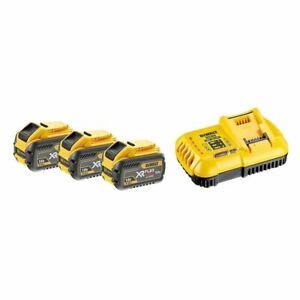 Akku-Starterset-Dewalt-54V-Dcb-118-x3-3-Batteries-9-0-Ah-et-Chargeur
