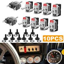 10 Set Waterproof Toggle Flick Switch 12v Onoff Car Dash Light Metal 12volt