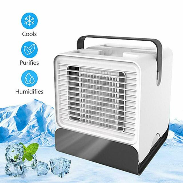 Mini Air Conditioning Conditioner Unit Fan Low Noise USB Home Cooler Humidifier