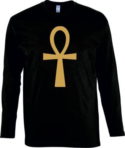 Ankh Cross Long Sleeved T-Shirt Various Colours//Sizes Egyptian