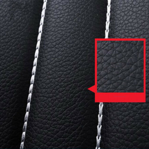 Black Universal Car Look PU Leather Cushion 5 Seats Full Protect Seat Cover Set