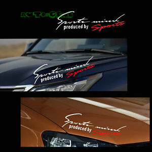 PC JDM Sports Mind Auto Car Window Headlight Eyebrow Body Vinyl - Car window decal stickers sports