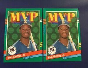 1991 Donruss # 392 KEN GRIFFEY JR Lot 2 MVP Seattle Mariners MINT