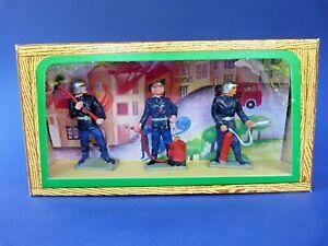 STARLUX-Ancienne-boite-3-pompiers-54mm-lot-1-plastic-toy-soldier-firemen