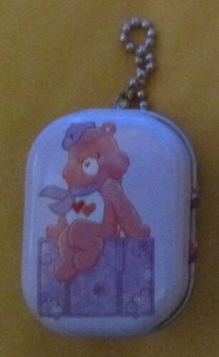 Care Bears Tender Heart Bear Tin Box with Chain Stash Keeper