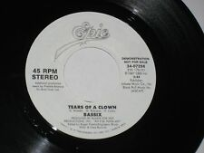 45 rpm BASSIX tears of a clown EPIC PROMO 34-07256 nice SEE PICS