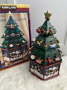 New Kirkland Advent Calendar LG. Wooden Christmas Tree W ...