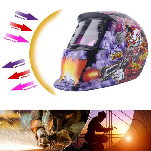 Solar Schweißmaske Automatik Schweißschild MIG WIG Schweißschutzhelm Clown A 03