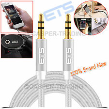 ETS® 1.5M 3.5mm Jack Male Plug To Plug Audio AUX Cable Headphone Speakers Lead