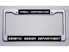 "BLADE RUNNER FANS! ""TYRELL CORP.../GENETIC DESIGN DEPT..."" LICENSE PLATE FRAME"