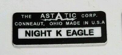 ASTATIC D-104 NIGHT EAGLE MICROPHONE BASE LABEL FOR RESTORATION.