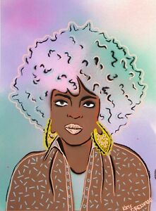 Lauryn-Hill-Fugees-Hiphop-Soul-Stencil-Graffiti-Pastel-Painting-by-Artist-MsDre