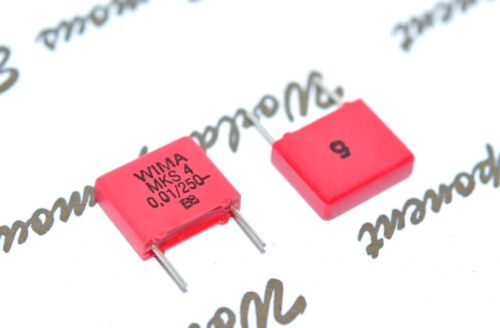 10pcs 0.01µF 10nF 250V 5/% pich:7.5mm Polyester Capacitor WIMA MKS4 0.01uF