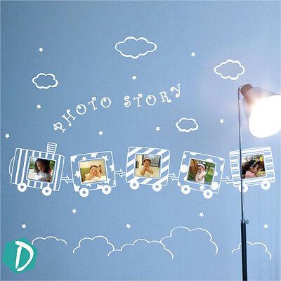 DecoMatters Kids Train Photo Frame Childrens Nursery Vinyl Wall Art Stickers