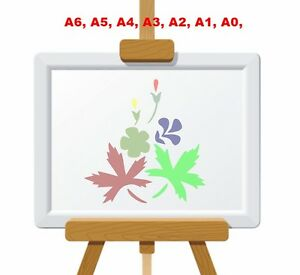 Stylized-Leaf-Flowers-amp-Bud-Stencil-350-micron-Mylar-not-thin-stuff-FL019