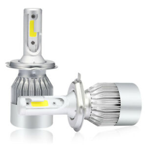 H4 C6 COB LED Headlight Turbo Light Bulbs 6000K for Honda Nissan Car