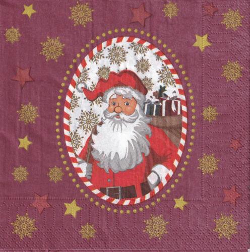 5 Servietten mit Weihnachtsmann 5