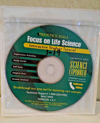 Prentice Hall LIFE Science 7th CD ROM SELF Tests ANSWER KEY STUDY GUIDE ANALYSIS 9780130513557 EBay