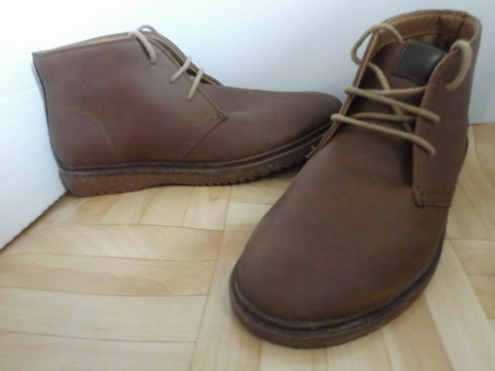 F&F Bot Sporty Brow Brown Faux Nubuck Lace Up Chukka Ankle Boots 6.5 UK 40 EU