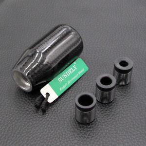 Black-Carbon-Fiber-Universal-Manual-Transmission-Gear-Knob-Ball-Shifter-UK