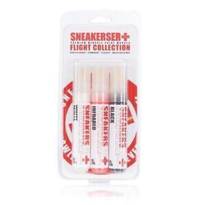 Set: schwarz/weiß/infrared SneakersER Premium-Mittelsohle Stift 10 mm Keilspitze