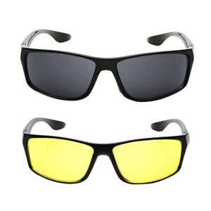 Unisex Night Driving Glasses Anti Glare Vision Driver Safety Sunglasses Gift&