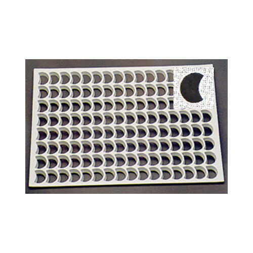 """1//2 Moon 78//Sheet Thermo Cookie Cutting Sheet 1-7//8/"""" Crescent"""