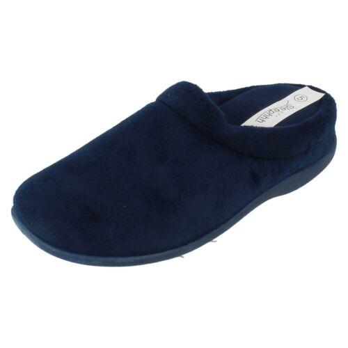 Ladies Sleephhh Mocassini con suola imbottita Mule Pantofole-Claire-OTTIMO PREZZO!