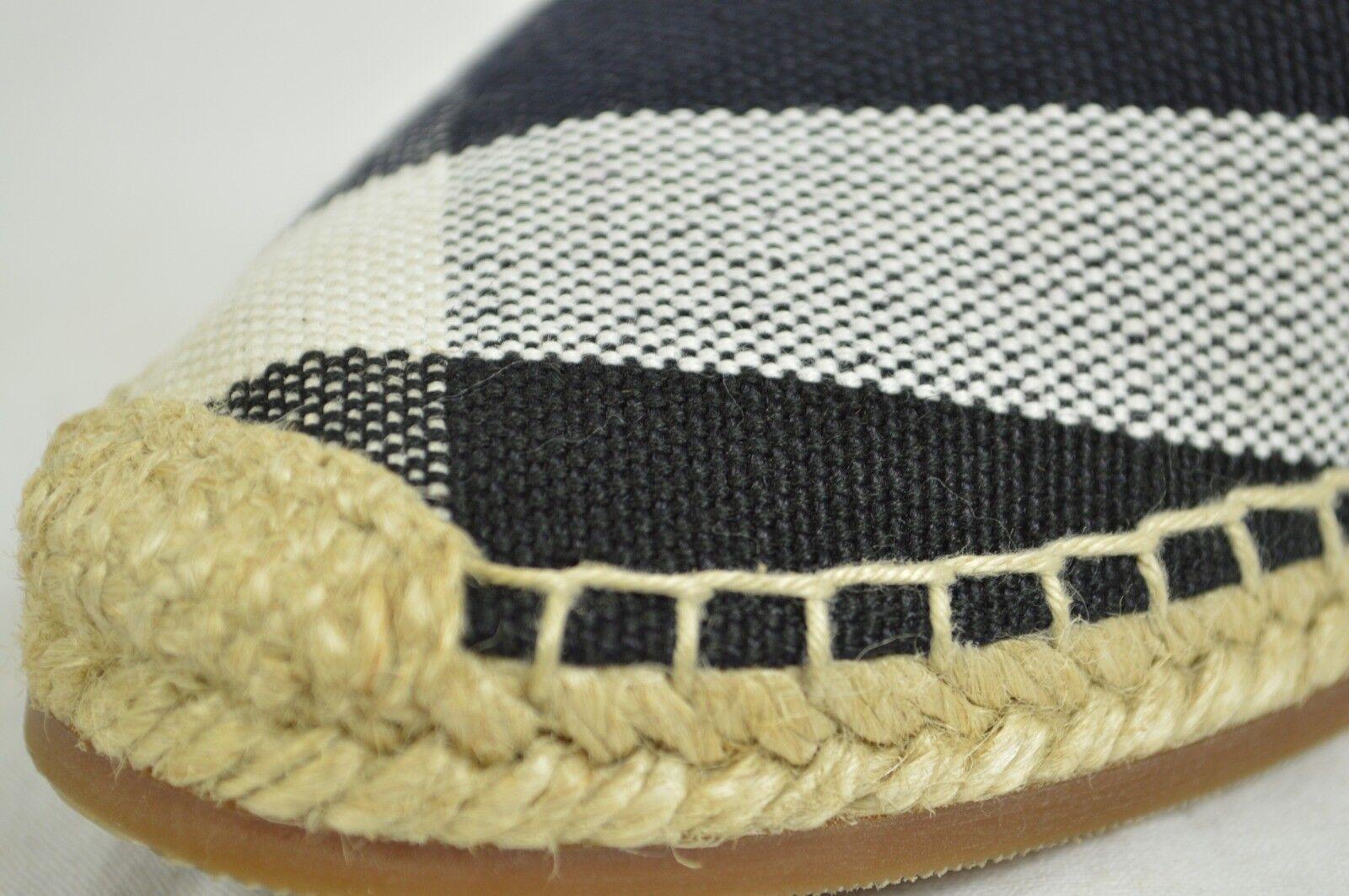 BURBERRY chaussures flip flip flip flops sandals flat espadrilles hodgeson navy bleu check 7 6be260