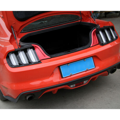 2x Rear Trunk Plate Panel Trim Accessories Cover Door Guard For Ford Mustang 15+
