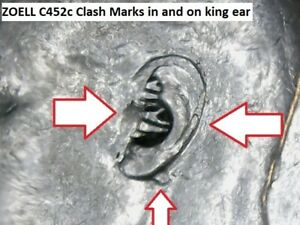 Variety-Zoell-C452c-Canada-50-Cents-1950-Clash-Mark-in-amp-on-King-ear-Hearing-aid