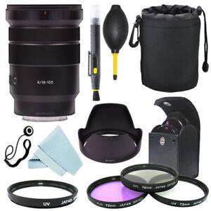 Sony E PZ 18-105mm f/4 G OSS Lens SELP18105G + Filter Kit + Accessory kit