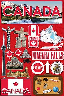Reminisce 3-D LAYERED Stickers-CANADA scrapbooking NIAGARA FALLS Maple Leaf