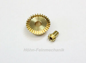 Kegelzahnrad-aus-Messing-Modul-0-5-10-30-Zaehne-1-Paar