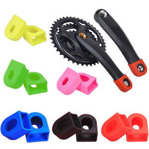 1 Pair Bicycle Protectors Crank Arm Boots Soft Bike MTB Crankset Protective