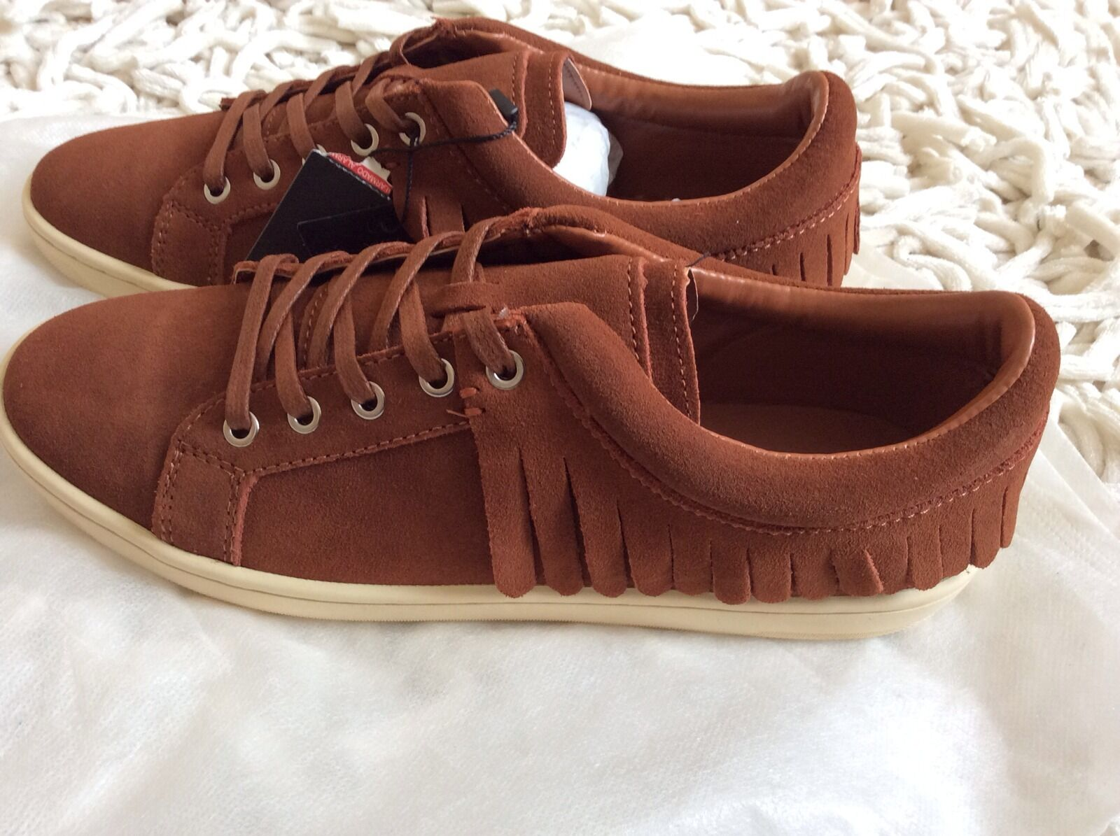 Zara Plimsole Women fringed Leather Plimsole Zara Shoes Size BNWT! Reduced 9af825