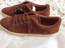 Zara Women fringed Leather Plimsole Shoes Size Uk 3 EUR 36 BNWT!