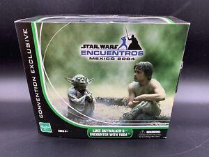 Star-Wars-Encuentros-Mexico-2004-Exclusive-Luke-Skywalker-039-s-Encounter-with-Yoda