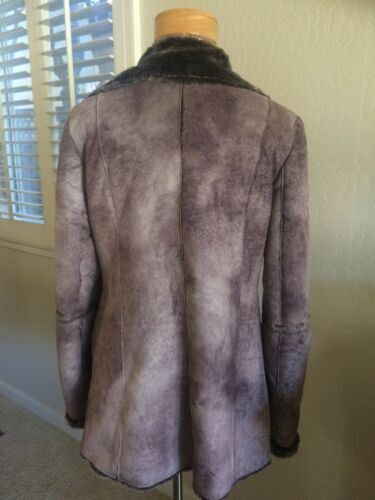M L donna Sliming Shearling Fur Jacket Faux Lines Coat da f70SY