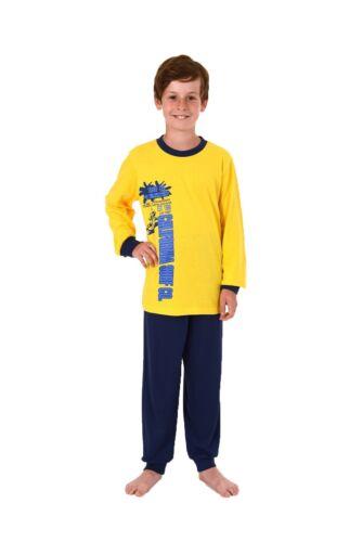 Cooler Jungen Pyjama langam mit Bündchen 58411